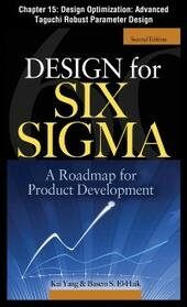 Design for Six Sigma, Chapter 15