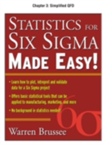 Ebook in inglese Statistics for Six Sigma Made Easy, Chapter 3 Brussee, Warren