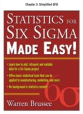 Statistics for Six Sigma Made Easy, Chapter 3