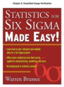 Ebook in inglese Statistics for Six Sigma Made Easy, Chapter 9 Brussee, Warren