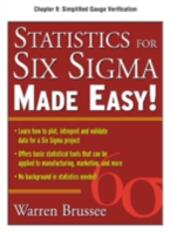 Statistics for Six Sigma Made Easy, Chapter 9