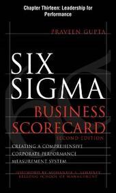 Six Sigma Business Scorecard, Chapter 13