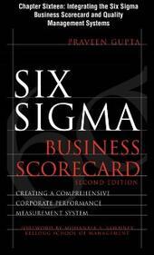 Six Sigma Business Scorecard, Chapter 16