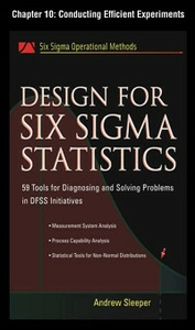 Ebook in inglese Design for Six Sigma Statistics, Chapter 10 Sleeper, Andrew