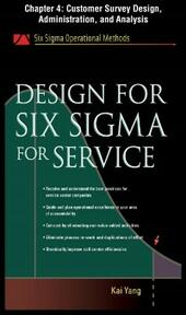 Design for Six Sigma for Service, Chapter 4