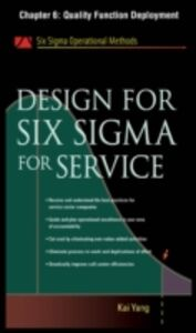 Ebook in inglese Design for Six Sigma for Service, Chapter 6 Yang, Kai