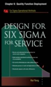 Design for Six Sigma for Service, Chapter 6