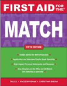 Ebook in inglese First Aid for the Match, Fifth Edition Bhushan, Vikas , Le, Tao , Shenvi, Christina