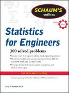 Schaum's Outline of Statistics for Engineers - Larry J. Stephens - cover