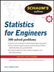 Ebook in inglese Schaum's Outline of Statistics for Engineers Stephens, Larry