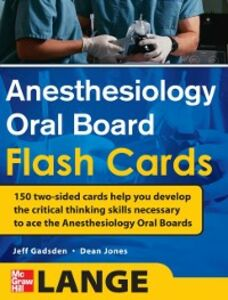 Ebook in inglese Anesthesiology Oral Board Flash Cards Gadsden, Jeff , Jones, Dean