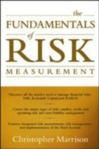 Ebook in inglese Fundamentals of Risk Measurement Marrison, Christopher