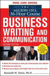 The McGraw-Hill 36-Hour Course in Business Writing and Communication, Second Edition - Kenneth Davis - cover