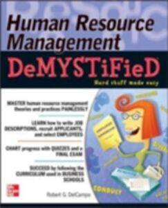 Ebook in inglese Human Resource Management DeMYSTiFieD DelCampo, Robert G.