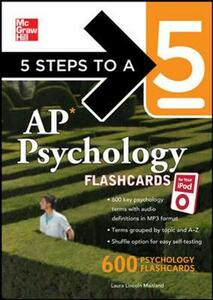 5 Steps to a 5 AP Psychology for your iPod with MP3 Disk - Laura Lincoln Maitland - cover