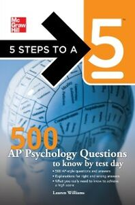 Ebook in inglese 5 Steps to a 5 500 AP Psychology Questions to Know by Test Day Evangelist, Thomas A. editor - , Williams, Lauren