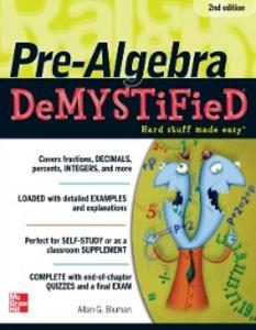 Ebook in inglese Pre-Algebra DeMYSTiFieD, Second Edition Bluman, Allan