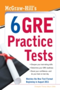 Ebook in inglese McGraw-Hill's 6 GRE Practice Tests Thomas, Christopher , Zahler, Kathy A.