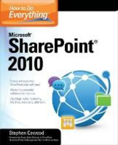 How to Do Everything Microsoft SharePoint 2010 - Stephen Cawood - cover