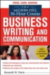 Ebook in inglese McGraw-Hill 36-Hour Course in Business Writing and Communication, Second Edition Davis, Kenneth