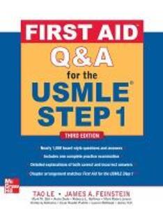 First aid Q&A for the USMLE step 1 - Le Tao,James Feinstein - copertina