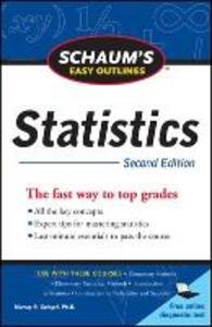 Schaum's Easy Outline of Statistics, Second Edition - David  P. Lindstrom,Murray R. Spiegel - cover