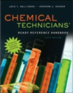 Ebook in inglese Chemical Technicians' Ready Reference Handbook, 5th Edition Ballinger, Jack , Shugar, Gershon