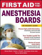 First Aid for the Anesthesiology Boards
