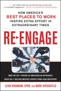 Ebook in inglese Re-Engage: How America's Best Places to Work Inspire Extra Effort in Extraordinary Times Branham, Leigh , Hirschfeld, Mark