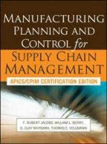 Manufacturing planning and control for supply chain management - copertina