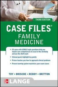 Case files family medicine - Eugene C. Toy,Donald Briscoe,Bruce S. Britton - copertina