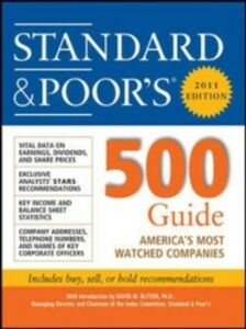 Ebook in inglese Standard & Poor''s 500 Guide, 2011 Edition Standard & Poor', tandard & Poor's
