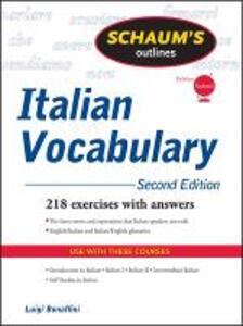 Schaum's Outline of Italian Vocabulary, Second Edition - Luigi Bonaffini,Fiorenza Consonni Clark,Conrad J. Schmitt - cover