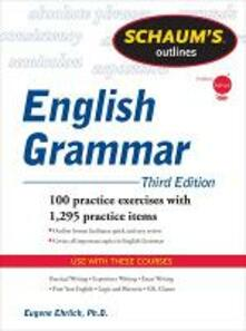 Schaum's Outline of English grammar - Eugene Ehrlich - copertina