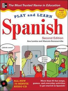 Play and Learn Spanish with Audio CD - Ana Lomba,Marcela Summerville - cover