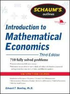 Introduction to mathematical economics - Edward Dowling - copertina