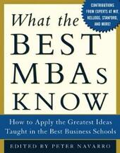 What the Best MBAs Know