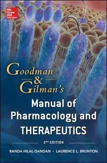 Nicocaradonna.it Goodman & Gilman's manual of pharmacology and therapeut Image