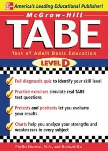 Foto Cover di McGraw-Hill's TABE Level D: Test of Adult Basic Education, Ebook inglese di Phyllis Dutwin,Richard Ku, edito da McGraw-Hill Education