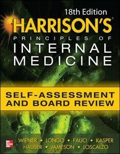 Harrison's principles of internal medicine self-assessment and board review - Charles M. Wiener,Cynthia D. Brown,Anna R. Hemnes - copertina