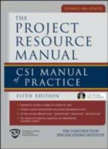 Ebook in inglese Project Resource Manual (PRM) Institute, The Construction Specifications