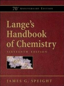 Ebook in inglese Lange's Handbook of Chemistry, 70th Anniversary Edition Speight, James