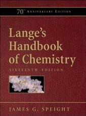 Lange's Handbook of Chemistry, 70th Anniversary Edition