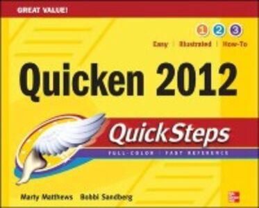Ebook in inglese Quicken 2012 QuickSteps Matthews, Martin , Sandberg, Bobbi
