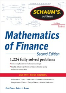 Ebook in inglese Schaum's Outline of Mathematics of Finance Brown, Robert , Zima, Petr