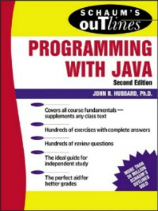 Ebook in inglese Schaum's Outline of Programming with Java Hubbard, John