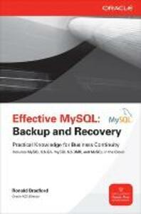 Effective MySQL Backup and Recovery - Ronald Bradford - cover