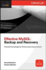 Ebook in inglese Effective MySQL Backup and Recovery Bradford, Ronald