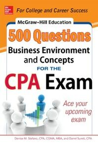 Ebook in inglese McGraw-Hill Education 500 Business Environment and Concepts Questions for the CPA Exam Stefano, Denise M. , Surett, Darrel
