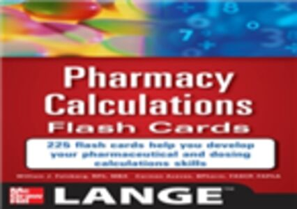 Ebook in inglese Pharmacy Calculations Flash Cards Aceves, Carmen , Feinberg, William